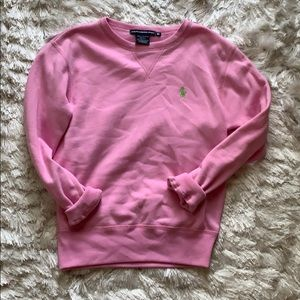 Baby pink crew neck sweater